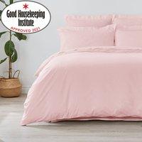 Non Iron Plain Dye Dusky Pink Duvet Cover Dusty Pink