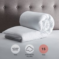 Fogarty Soft Touch 15 Tog Duvet White