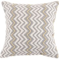 Berber Zigzag Cushion Grey / White