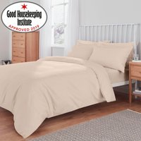 Non Iron Plain Dye Cream Duvet Cover Cream