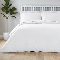 Easycare Plain Dye 100% Cotton White Duvet Cover White