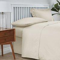 Easycare Plain Dye Cream Flat Sheet Cream