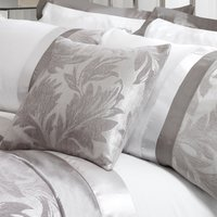 Roma Silver Damask Cushion Grey / Silver
