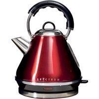 Spectrum 1.7L Red Pyramid Kettle Red