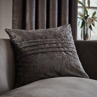 Large Chenille Grey Cushion Grey