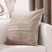 Large Chenille Taupe Cushion Taupe