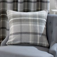 Highland Dove Grey Check Cushion Grey