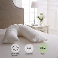 Dorma Full Forever V-Shaped Firm-Support Pillow White