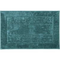 Luxury Cotton Non-Slip Bath Mat Blue