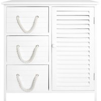 Nautical 3 Drawer and Cabinet Unit White