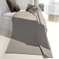 Taupe Gingham Thermosoft Throw Taupe