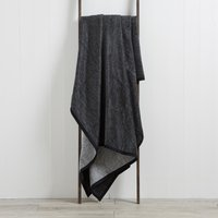 Grey Texture Thermosoft Throw Black