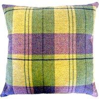 Tweed Woven Cushion Yellow