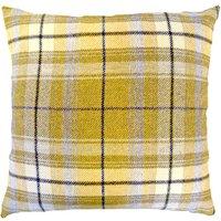 Tweed Woven Cushion Grey / Yellow