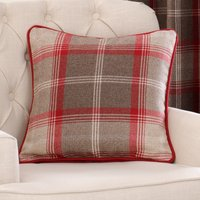 Highland Red Filled Cushion Red / Brown