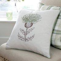 Balmoral Green Thistle Cushion Green