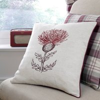 Balmoral Red Thistle Cushion Red / Brown