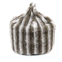 Chinchilla Faux Fur Bean Bag Chinchilla (Grey)