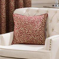 Willow Red Filled Cushion Red