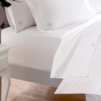 Dorma Egyptian Cotton 1000 Thread Count White Fitted Sheet White