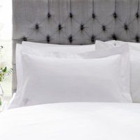 Dorma Egyptian Cotton 1000 Thread Count White Oxford Pillowcase White