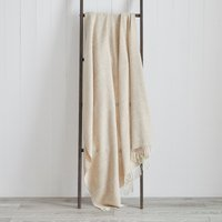 Dorma Maldon Natural Wool Throw Natural Brown