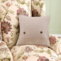 Dorma Natural Maldon Cushion Natural Brown
