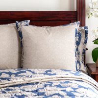 Dorma Samira Blue Continental Pillowcase Blue