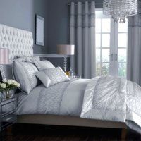 Claudia Embroidered Grey Duvet Cover Grey
