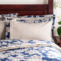 Dorma Samira Blue Cuffed Pillowcase Royal Blue