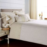 Millie Emboridered Natural Duvet Cover and Pillowcase Set Light Brown / Natural