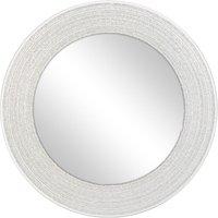 Sparkle Circular Mirror Silver