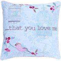 Evelyn Duck-Egg Square Cushion Duck Egg Blue