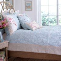 Evelyn Duck Egg Bedspread Duck Egg Blue