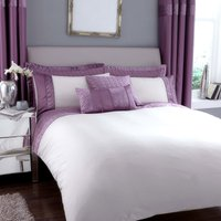 Vienna Emboridered Heather Duvet Cover Lilac