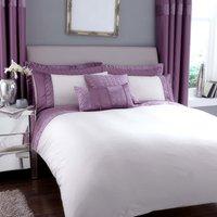 Vienna Emboridered Heather Duvet Cover Lilac