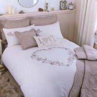 Parisian Embroidered Cream Duvet Cover Cream