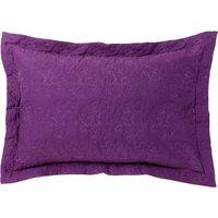 Hydrangea Plum Pillow Sham Dark Purple