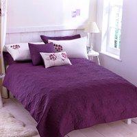 Hydrangea Plum Bedspread Dark Plum Purple