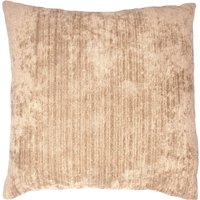 Large Topaz Cushion Cover Biscuit (Brown)