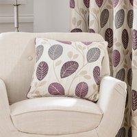 Turin Plum Cushion Cream / Purple