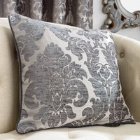 Versailles Charcoal Cushion Dark Grey