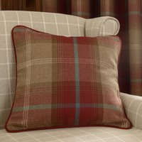 Highland Wine Check Cushion Red / Brown