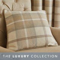 Highland Natural Check Cushion Light Brown / Natural