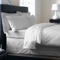 Dorma 350 Thread Count Cotton Satin Plain Dye Silver Duvet Cover Silver