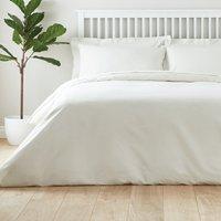 Easycare Plain Dye 100% Cotton Ivory Duvet Cover Ivory