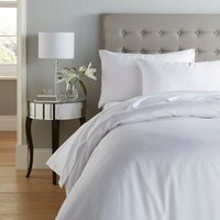 Cotton Rich Sateen White Duvet Cover White