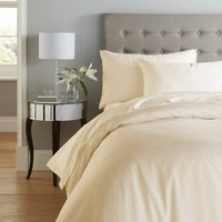 Cotton Rich Sateen Cream Duvet Cover Cream