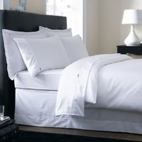 Dorma 500 Thread Count 100% Cotton Satin Plain Dye White Duvet Cover White