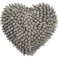 Ruffled Heart Cushion Grey